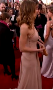 Swank showed off strong arms at last night's SAG Awards.