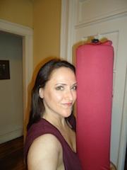 BrooklynFitChik with her foam roller