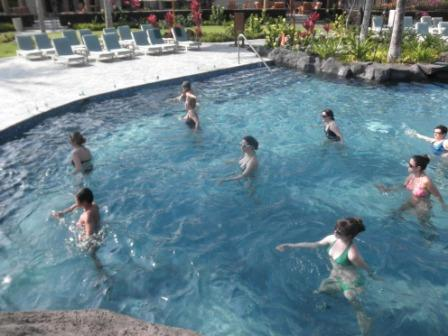 Aqua Zumba at the Kings' Land Resort!