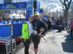 Tara Costa from Biggest Loser & me at the finish line!