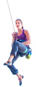 Paige Claassen is a professional rock climber who will spend the next year raising money for charities across the globe. Photo by Jon Glassberg (LT11.com).
