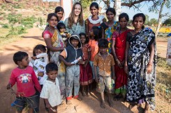 Paige got to know a few local Indian women while on her trip. Photo by Jon Glassberg (LT11).