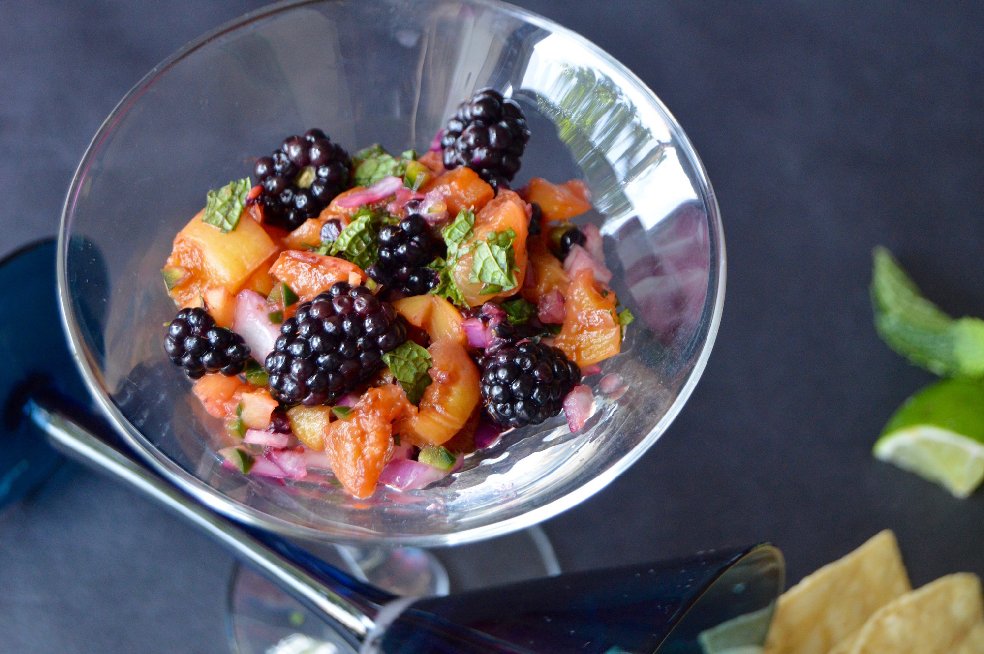 Grilled Peach and Blackberry Salsa