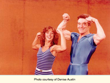 Denise with Jack LaLanne in 1981 on The Jack LaLanne Show
