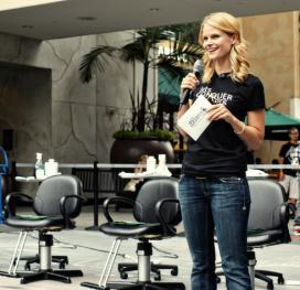 Justified star Joelle Carter gives back by hosting a charity event. (Photo courtesy of St. Baldrick's Foundation)