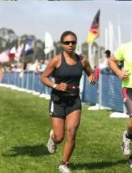 Danielle competing in the San Francisco Triathlon