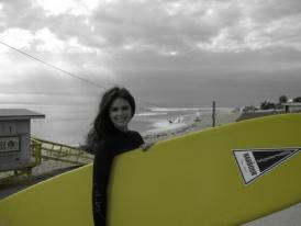 Katie Lee enjoys the waves in Malibu. (Photo courtesy of Katie Lee)