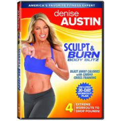 Choose one segment or them all—Denise Austin provides a fun workout. (Photo courtesy of deniseaustin.shop.sportstoday.com)