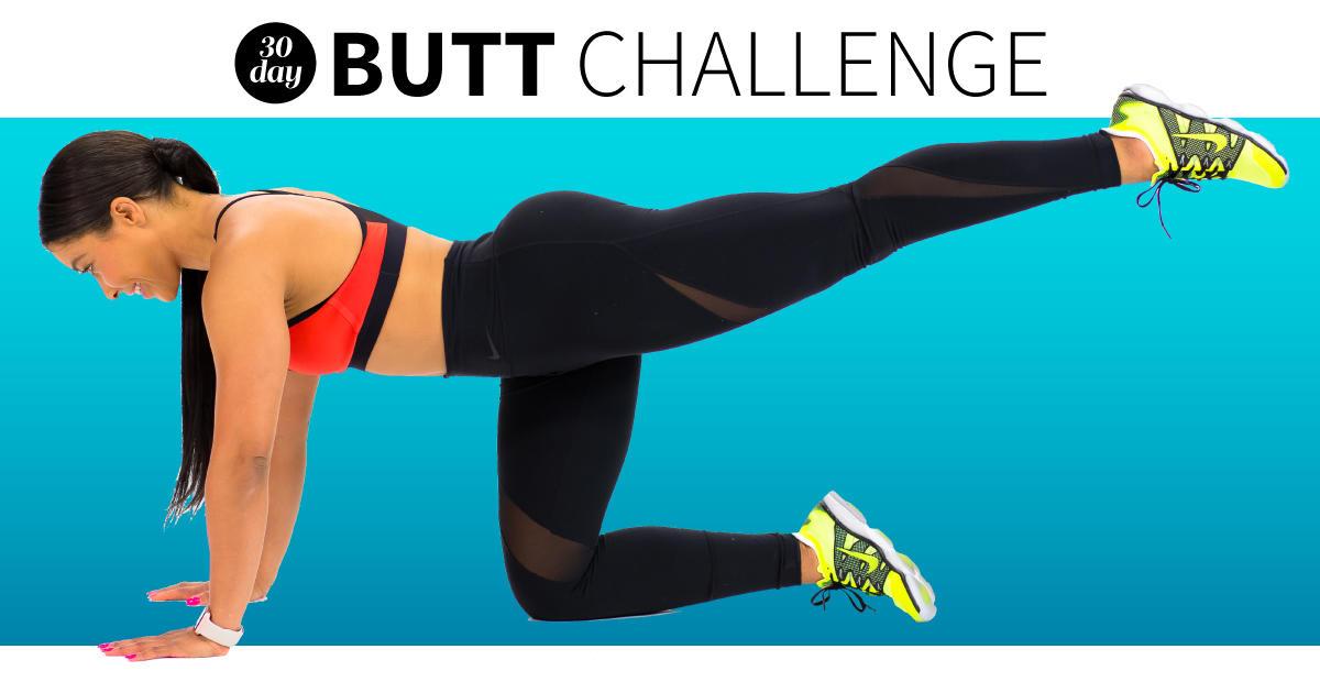 30-Day Butt Challenge - Butt Exercises   Fitness Magazine