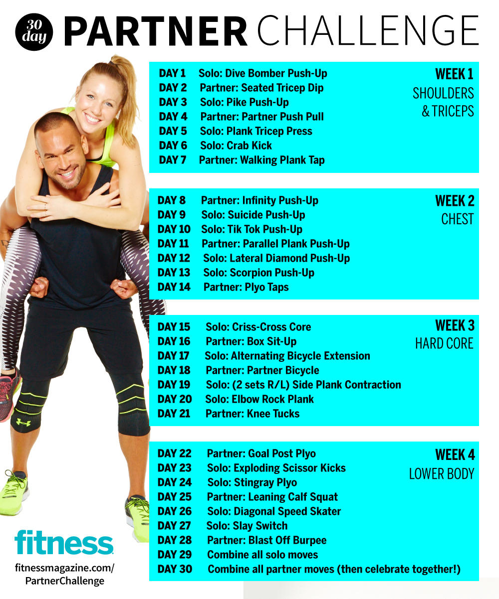 The 30-Day Partner Challenge That Sculpts and Tones | Fitness Magazine