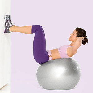 Abs Mountain Climber With Hands On Swiss Ball