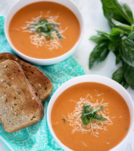 Healthy tomato basil soup recipe
