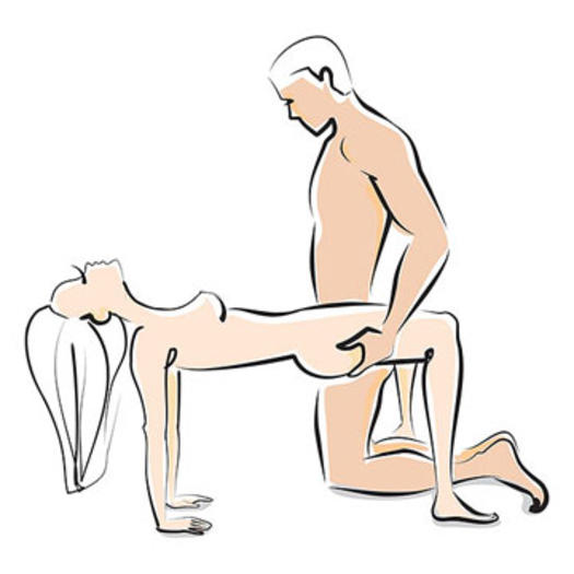 The bridge sex position with the man in control