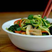 Zucchini Noodle Healthy Pad Thai Abbey S Kitchen