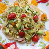 Zucchini Noodle Healthy Pad Thai Abbey S Kitchen