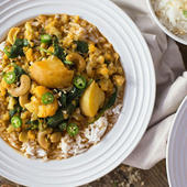Almond milk vegetarian curry recipe