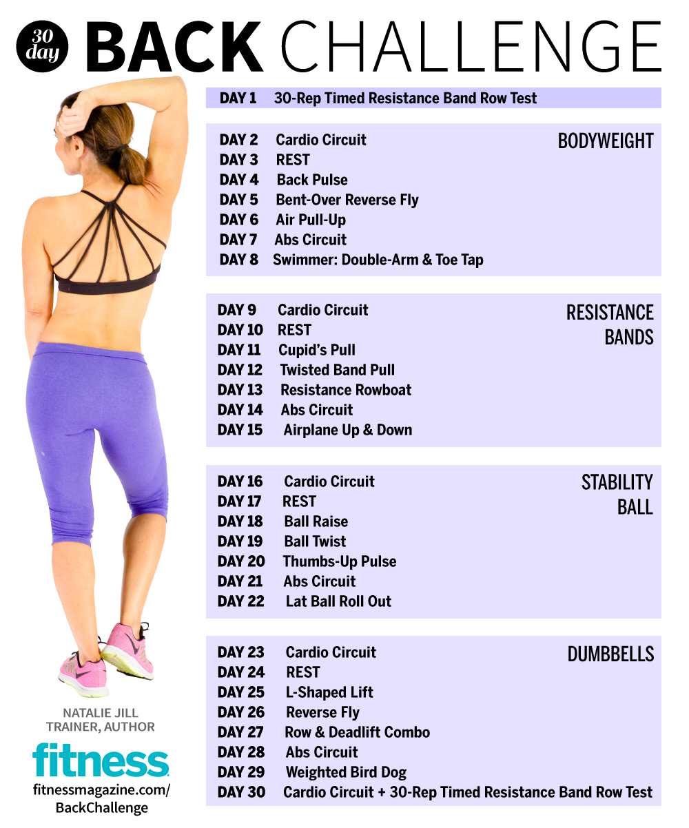 the 30 day fitness challenge back workout fitness magazine