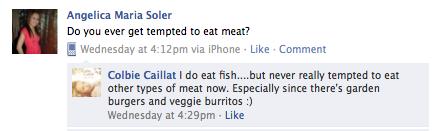 Colbie-vegetarian