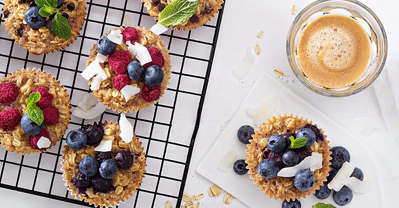 Protein Muffins Made with Quinoa