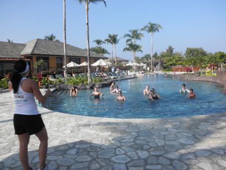 Aqua Zumba at the Kings' Land resort!