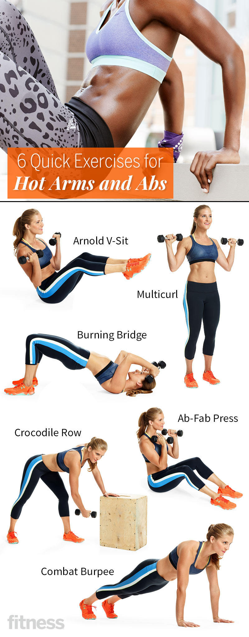6 Quick Exercises For Hot Arms And Abs Fitness Magazine