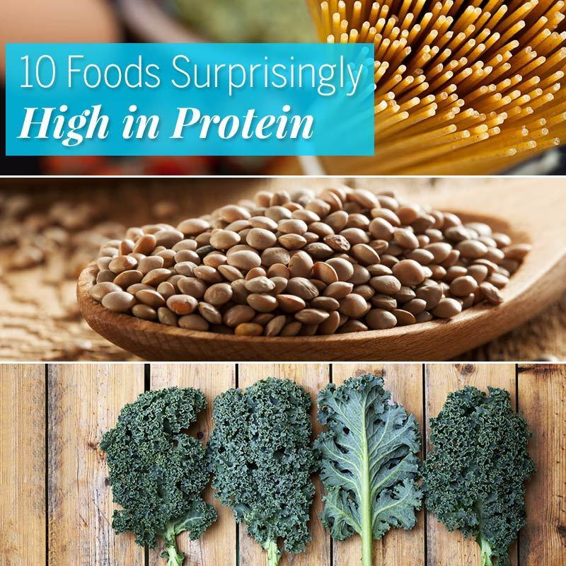 10 Foods Surprisingly High in Protein