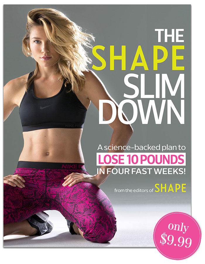 The Shape Slim Down: A science-backed plan with daily recipes, bonus workout moves, and expert advice to to lose 10 pounds in four fast weeks.