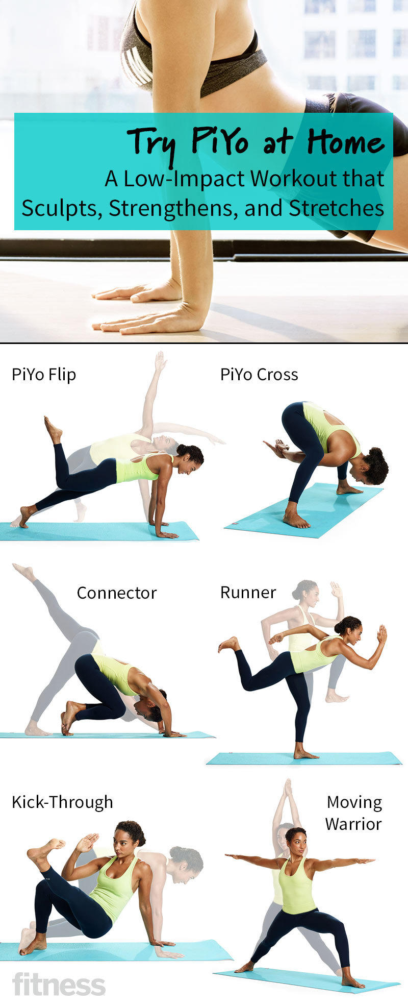 Try Piyo At Home A Low Impact Workout That Sculpts And Strengthens Leg Circuit The Science Of Eating Fitness Magazine