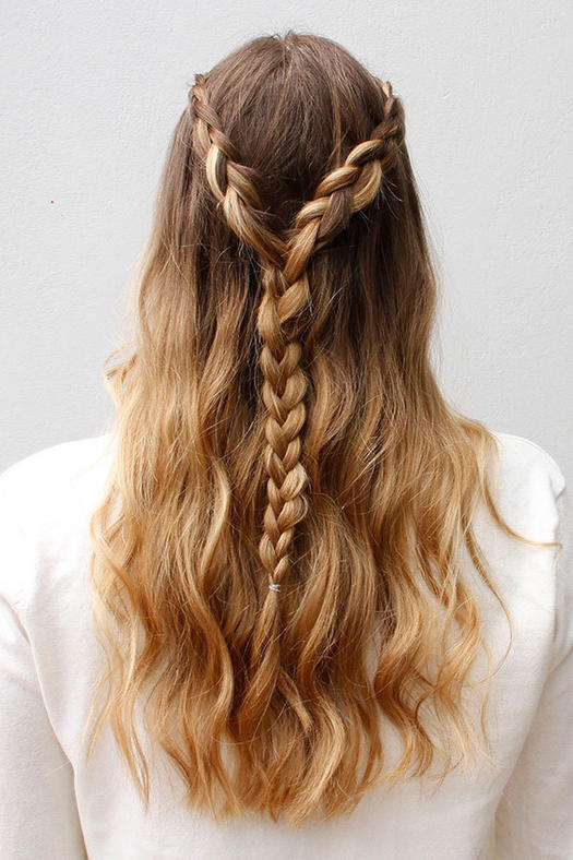 Lace-Braided Half Updo