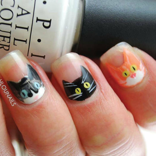 Negative Space Nail Art Cute Manicure Ideas Fitness Magazine
