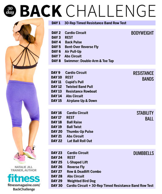 The 30 Day Fitness Challenge That Sculpts A Sexy Back