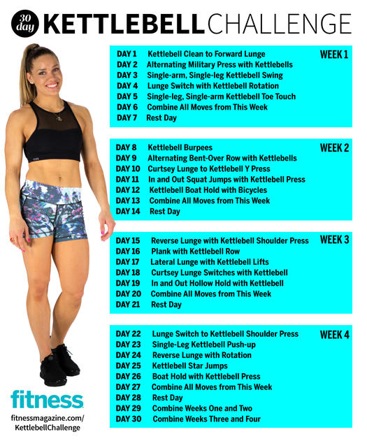 This Total Body 30 Day Challenge Is The Ultimate Kettlebell Workout