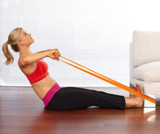 Workout Bands Music: Alison Sweeney's At-Home Couch Workout