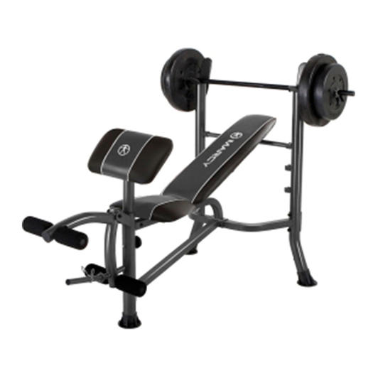Home gym fitness workout curl bench weights set mega saver shop