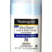 Neutrogena Ultra Sheer Stick Face & Body Stick SPF 70