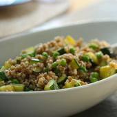 Wheat Berries with Zucchini and Peas