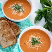 Healthy tomato basil soup recipe