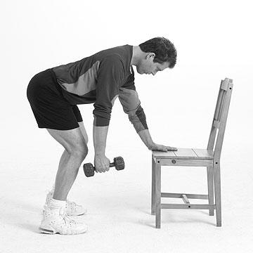 Chair and Dumbbell Workout: Beginner, from