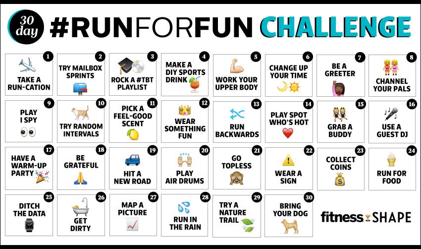 Running Challenge Fun Run Ideas Fitness Magazine